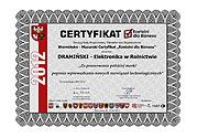 Fiables en los negocios – premio para empresa Dramiński