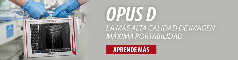 DRAMIŃSKI OPUS D - ecógrafo con los parámetros de la imagen excelentes con las funciones del doppler. Comprueba!