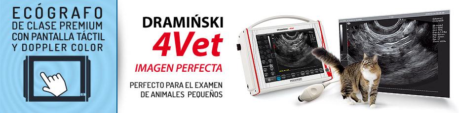 DRAMINSKI 4Vet - el ecógrafo para el diagnóstico complejo de animales grandes y pequeños.  Comprueba!
