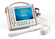 DRAMINSKI Fast ecógrafo portátil extremadamente resistente para médicos ambulantes. Para un rápido diagnóstico de los órganos de la cavidad estomacal y de la pelvis