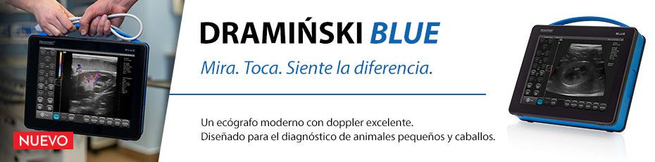 DRAMIŃSKI BLUE es un ecógrafo para diagnóstico veterinario que te sorprenderá por su detallada imagen.