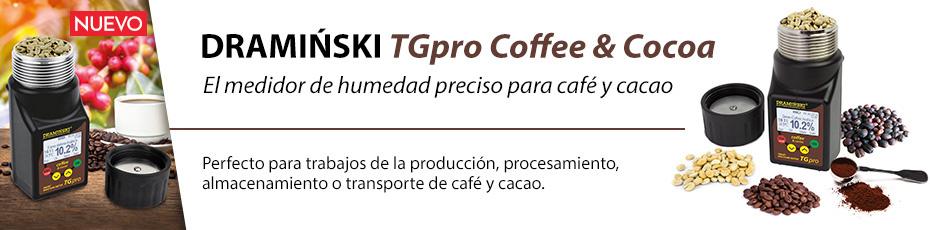 El medidor de humedad preciso para café y cacao con la presión de muestra.