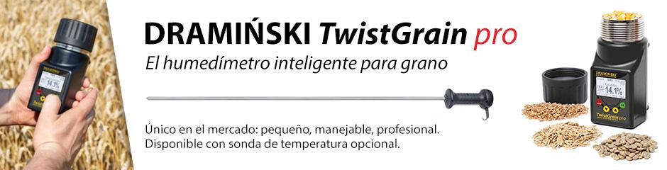 TwistGrain pro higrómetro para el grano de cereales, maíz, semillas de hierbas, oleaginosas y legumbres.