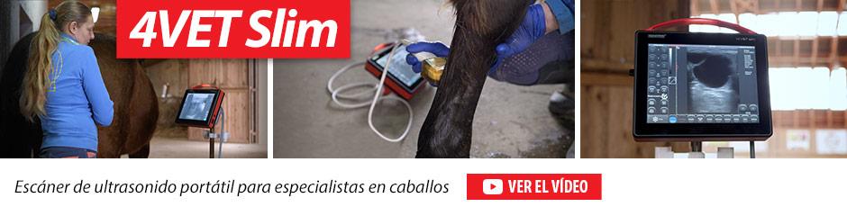 4VET Slim Escáner de ultrasonido portátil para especialistas en caballos.